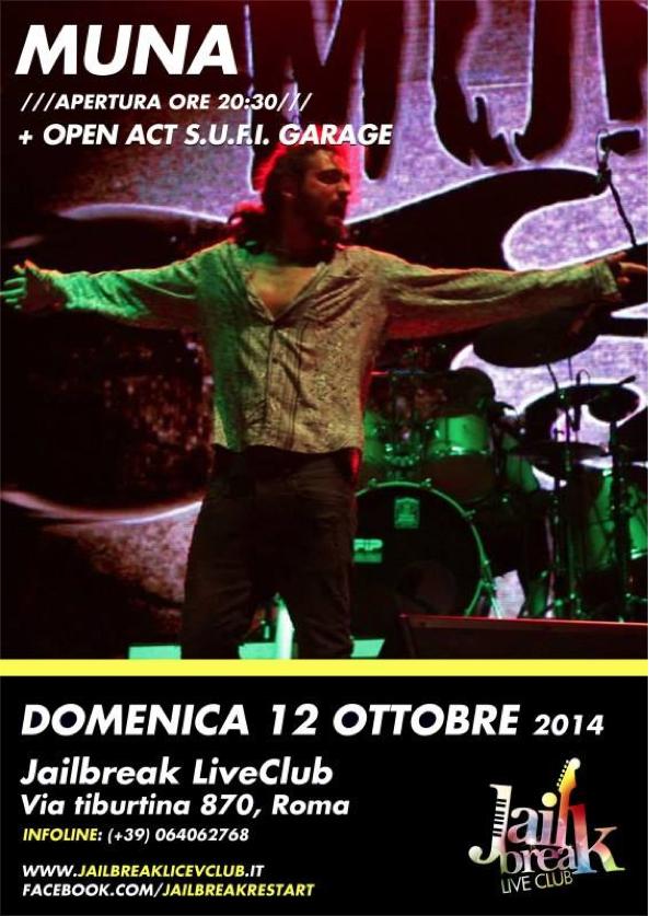 Muna Live @Jailbreak (Roma) domenica 12 Ottobre ESCAPE='HTML'